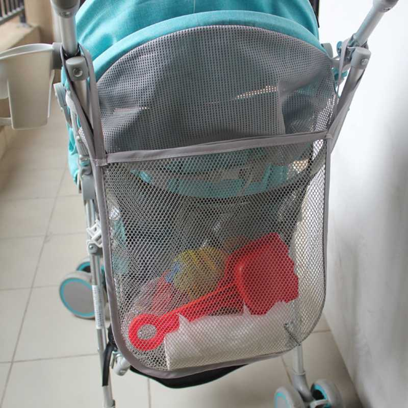 9d524bf0c9 ... Brand Durable Children Stroller Hanging Bag Baby Product Storage Net Bag  Clear Mesh Portable Diaper Organizer ...