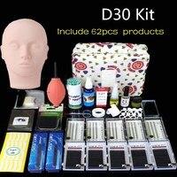 Pro Training Eyelashes kit False Eyelash Extension Grafting Practice Curl Glue Tweezer Tools Set Bag For Eye Lash Graft bag D30