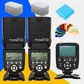 Yongnuo yn-560iii yn560 yn560iii-iii speedlite flash x2 + yn-560tx lcd controlador de flash yn560 yn560 iii tx para canon nikon cámara