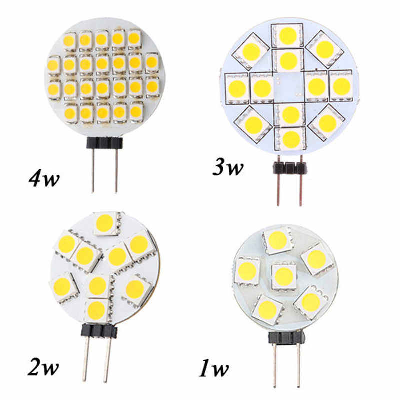 G4 LED Lamp 1W 3W 4W 5W 5050 SMD Spotlight Corn Bulb Car Boat RV Light Cool White Warm White DC12V