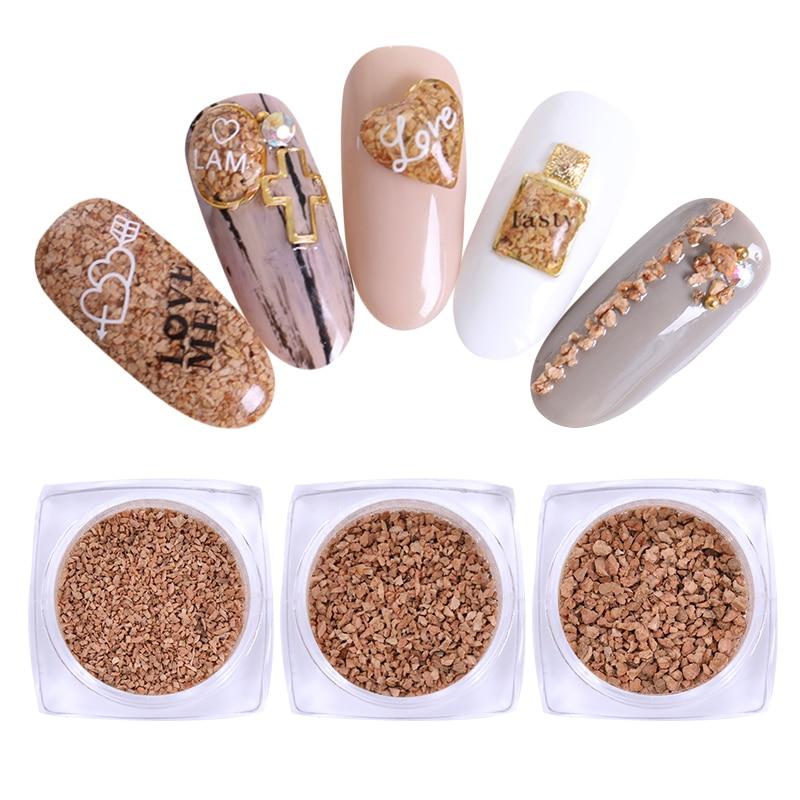 3 Boxen Kork Pulver Staub Pailletten 1mm/1,5mm/2mm Charming Japanische Maniküre Nail Art 3d Dekorationen Für Nagel Gel Nagelglitzer Nails Art & Werkzeuge