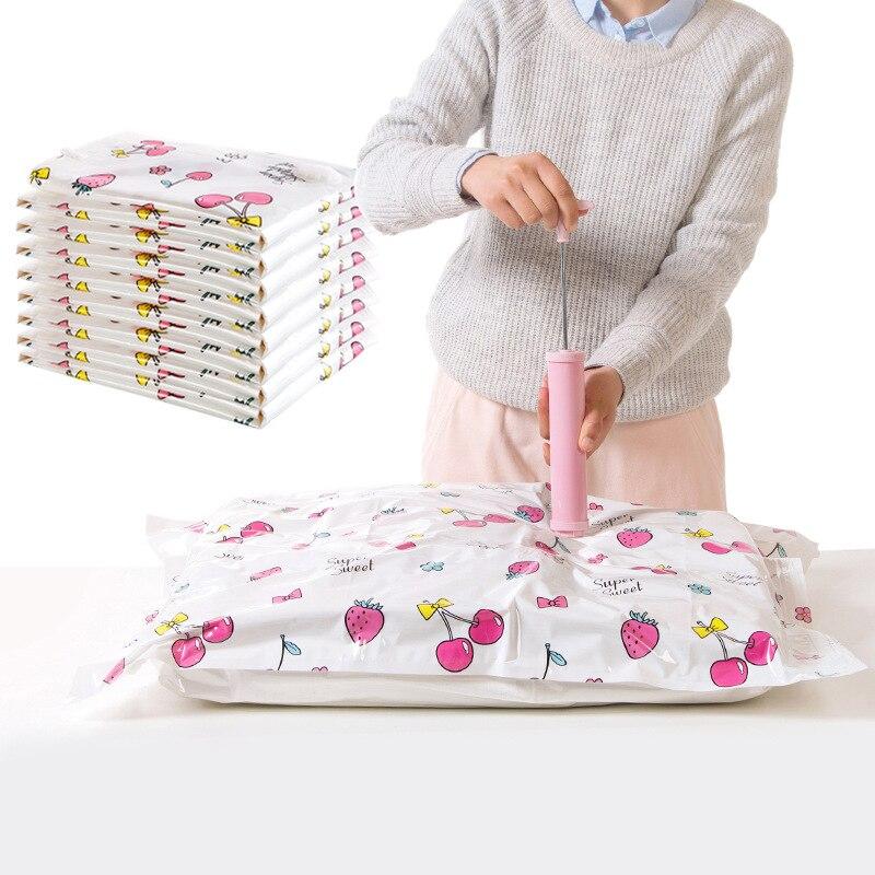 Boxi шкаф вакуумные сумки для одежды молния замок органайзер для багажа шкаф сумка для хранения мини автоматический компрессионный вакуумны...