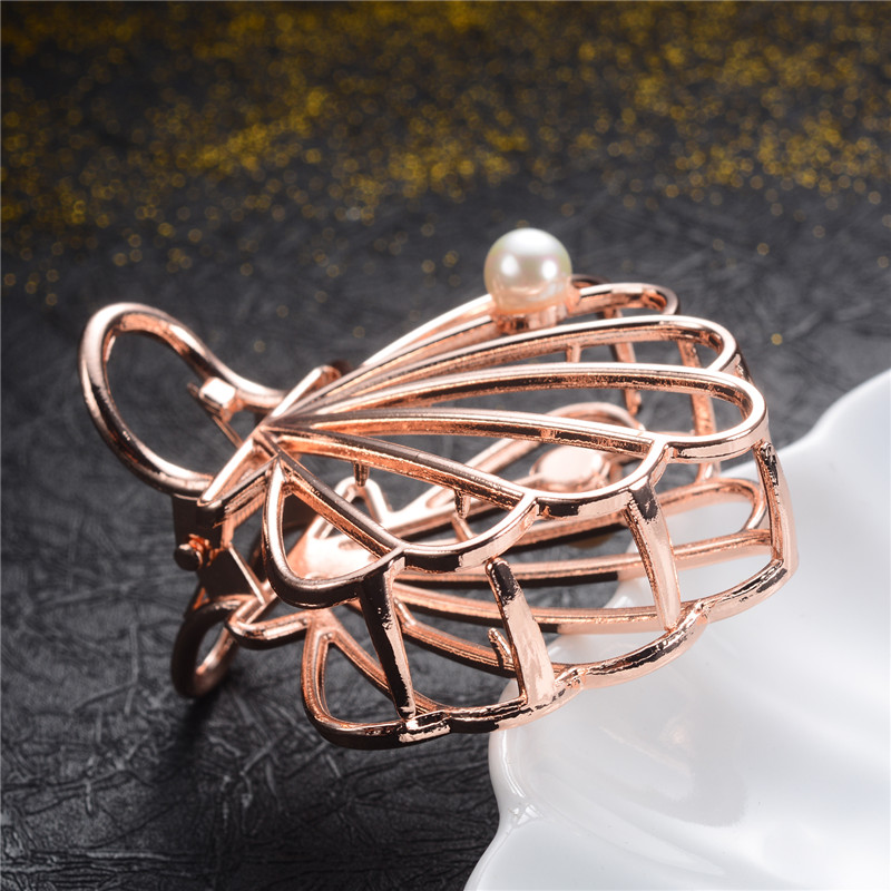 Charm Brand Design Girls Metal Geometric Hair Claws Wedding Hair Accessories For Women Hair Crab Clip Jewelry Headwear Gift in Hair Jewelry from Jewelry Accessories
