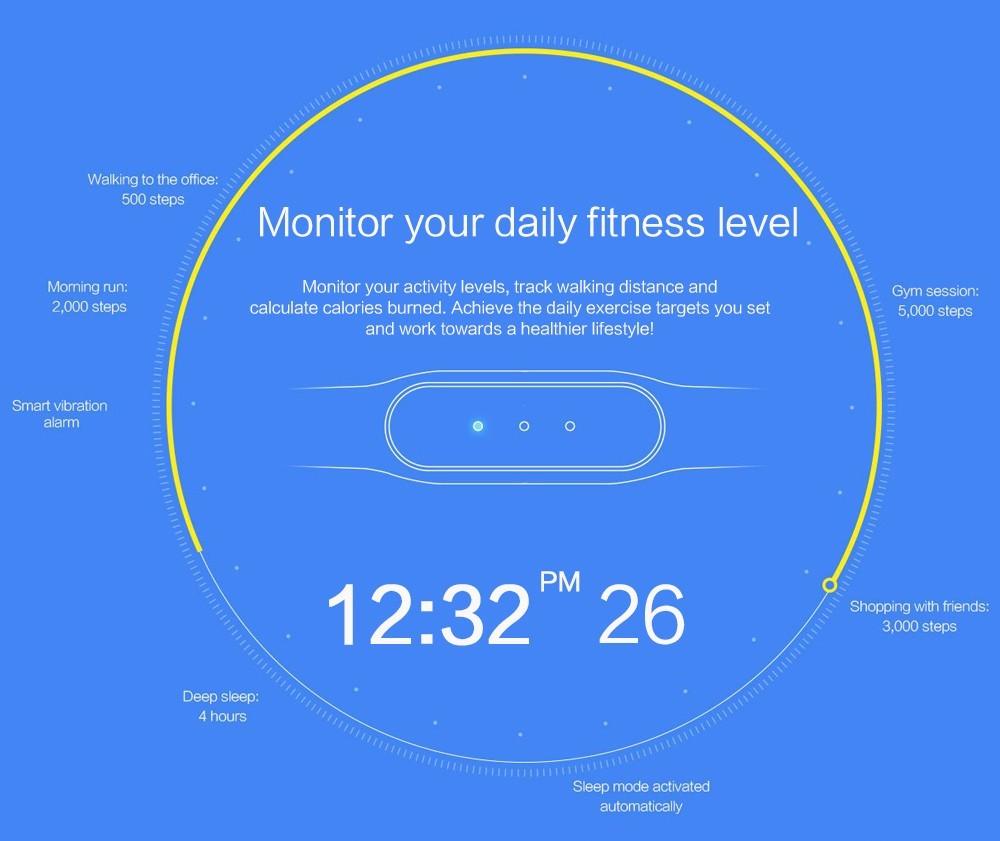 100% Original Xiaomi Mi Band 1S Bluetooth Smart Fitness Bracelet for Android/IOS Phone Vibration Alarm Pedometer Sleep Tracker 11