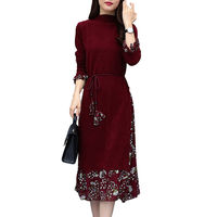 Fashion Warm Women Sweater Dress Fall Winter Long Sexy Chiffon Splice Dresses Female Skinny Elastic Knitted Dress Vestidos mujer