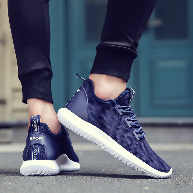 a52b61862 Hot Light-weight Running Shoes Men Sport Shoes SMART CHIP Mens Black  Sneakers Breathable Man Shoes White/Blue