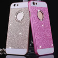 Girls Hollow Crystal Glitter Beautiful Hard Protective Smartphone PC Case Cover For iPhone 4 4S 5 5s 6 6s plus Se Fashion Woman