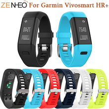 Silicone Bracelet Watch Strap Replacement Sport Band For Garmin Vivosmart HR+ Wrist Strap For Garmin Vivosmart HR+ Watchbands цена и фото