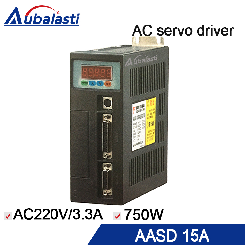 AC servo motor driver AASD 15A input ac220v 3.3a 750w servo driver use for cnc engraver and cutting machine dhl ems sam sung csmt 02bb1abt3 ac servo motor good in condition for industry use a1
