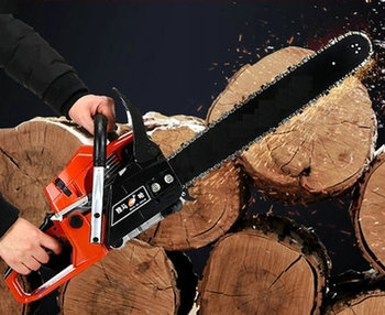 9800/65cc single-cylinder two-stroke air-cooled logging timber chain saw / garden saw, 20 inch guide