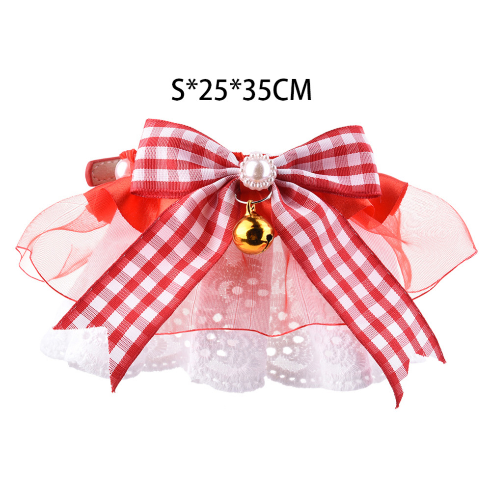 Adjustable Dog Puppy Cat Bow Tie Neck Bowknot Pet Collar With Bells ...