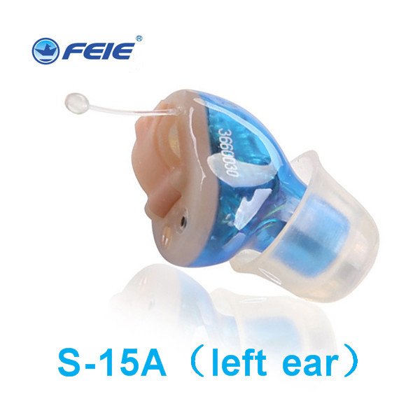 2018 New Hot Selling Ite Hearing Aid Portable Small Mini In The Ear Invisible Sound Amplifier Adjustable Tone Digital Aids S 15A
