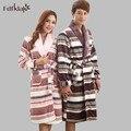 Impressão dos desenhos animados mulheres kimono robe de flanela velo roupão de banho das mulheres de manga longa outono inverno casa robe grosso roupão quente Q895