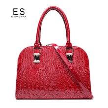 Elegante Damen Handtaschen 2017 Neue Ankunft Krokodil Pu-leder Handtasche Einkaufstasche Hohe Qualität Mode Saffiano Umhängetasche Frauen