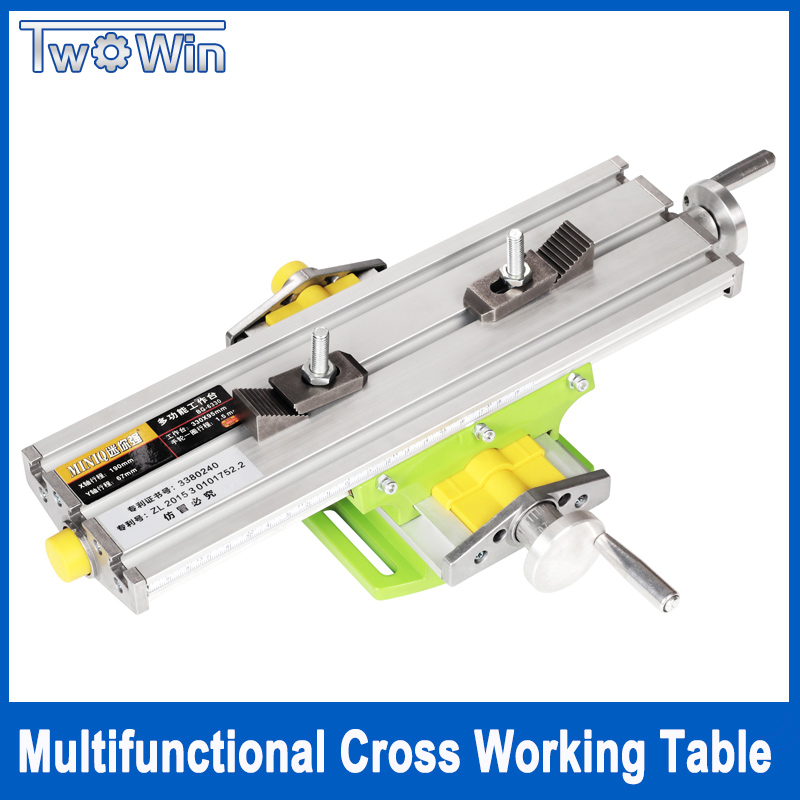 Mini Multifunctional Cross Working Table worktable For Drilling Milling Machine Bench Vise Mechanic Tools 6330 rotary worktable drilling and milling machine cross table 225 x175