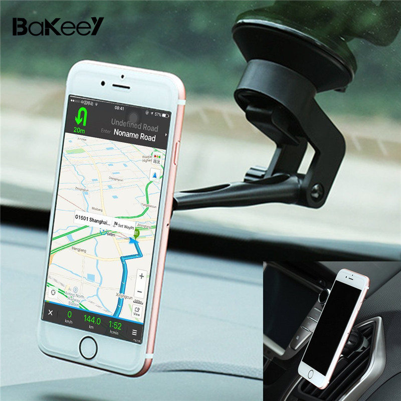 Bakeey 2 in 1 for Phone universal Magnetic car Holder Air Vent Holdes stands Suction Bracket Hand for-iPhone for Samsung /xiaomi