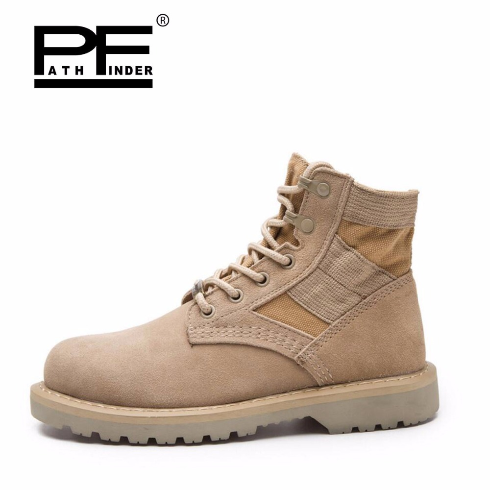 Pathfind Men Genuine Leather winter Snow Martin Tooling military Boots Outdoor warm male Fur Mens shoes plus size 39-47 2016 autumn winter brand men shoes martin casual boots leather warm snow boots outdoor timber boots botas hombre big size 39 46