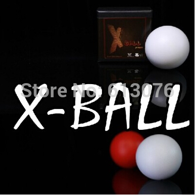 X-Ball(red/white),one to four ball accessories - Magic trick,magic accessories,stage magic, 2014 new magic trick sponge ball disappear magic trick tutorial