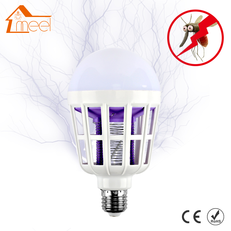 Electronic Mosquito Killer Night Light 220V E27 LED Bulb Mosquito Killer 15W Repellent Fly Bug Insect Killer Trap Night Lamp mini night light insect mosquito repellent mosquito flies housefly home safe free shipping
