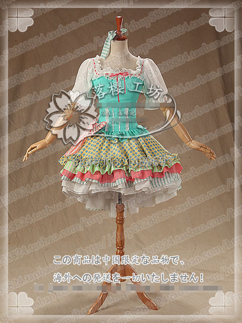 Love Live! Minami Kotori Lolita Customized Thumb Girl Cards Fairy Tail Cosplay Costume Free Shipping