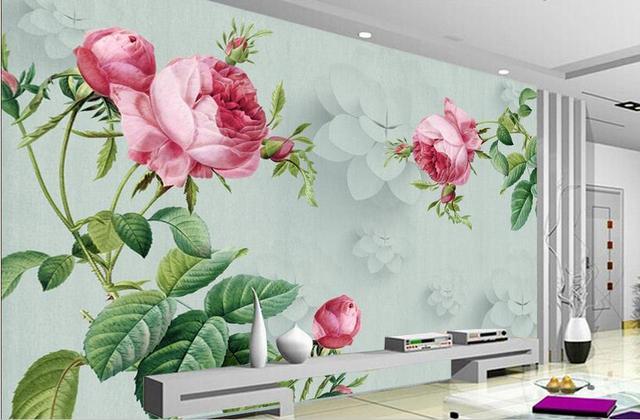 Carta Da Parati Fiori Rosa : Foto murale 3d arte carta da parati fiore rosa retrò murales carta