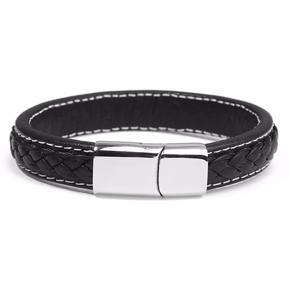 D&D Genuine Leather Magnetic Bracelet