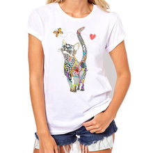Mode 2021 nouveau Cool T-shirt hommes/femmes 3d T-shirt imprimer deux chat à manches courtes été hauts t-shirts T-shirt mâle rop