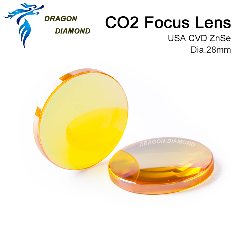 USA ZnSe Co2 Laser Lens 28mm Dia 50.8mm 63.5mm 2inch 2.5inch Focus Length For CO2 Laser Cutting Machine-in Lenses from Tools    2