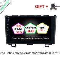 Funrover 2 Din Android 8 0 Car DVD GPS For Honda CRV CR V 2006 2007
