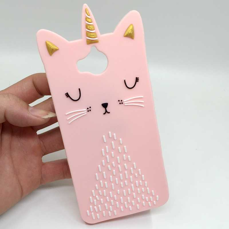 coque huawei y6 2017 silicone rose