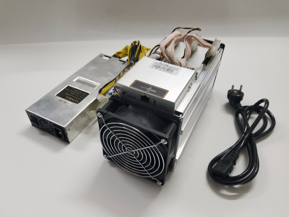 2pcs New <font><b>AntMiner</b></font> V9 4T 4th/s With <font><b>BITMAIN</b></font> PSU Bitcoin Miner Asic Miner Btc BCH Miner Better Than <font><b>AntMiner</b></font> S5 <font><b>S7</b></font> S9 S9i T9+ image