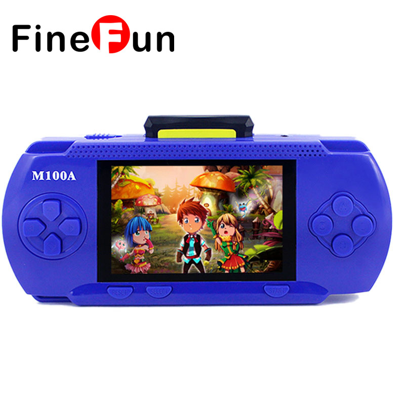 Free Shipping M100A Handheld Game Consoles Child Game Console Color TV PVP Games Box Tetris