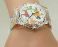 WILLIS Brand Sports Watch Cute Transparent Woman Animal Cartoon Design Silicone Watch For Children Baby Gift Watches PENGNATATE