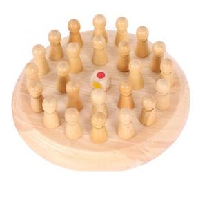 Image 4 - เด็กหน่วยความจำไม้จับคู่เกมหมากรุกบล็อกสนุกเกมการศึกษาสีCognitive Abilityของเล่นเด็ก