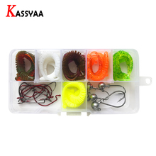 Soft Lure Kit With Box Jig Crank Fishing Hooks Swimbait Earthworm Set Corn Silicone Wobblers Bass Carp