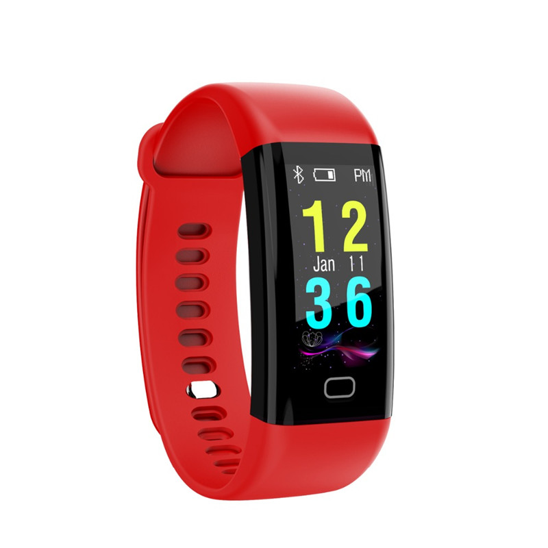 New Color Screen Sport Smart Band Waterproof Heart Rate Fitness Bracelet With Blood Pressure Oxygen Monitor Sport Wristband цена