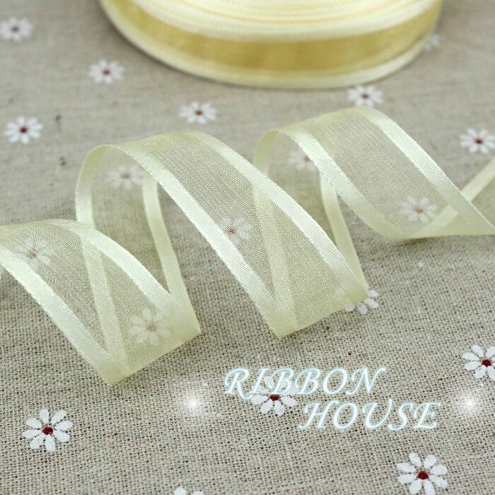 20 мм бледное золото залп органза лентами оптовая продажа подарочной упаковки украшение ленты