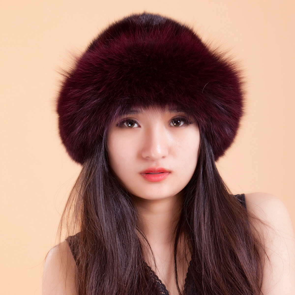 2017 New Mink Fur Hat Children Winter Warm Korean Hat Fox Mink Hat Brim Princess Cap foreign trade explosion models in europe and america in winter knit hat fashion warm mink mink hat lady ear cap dhy 36