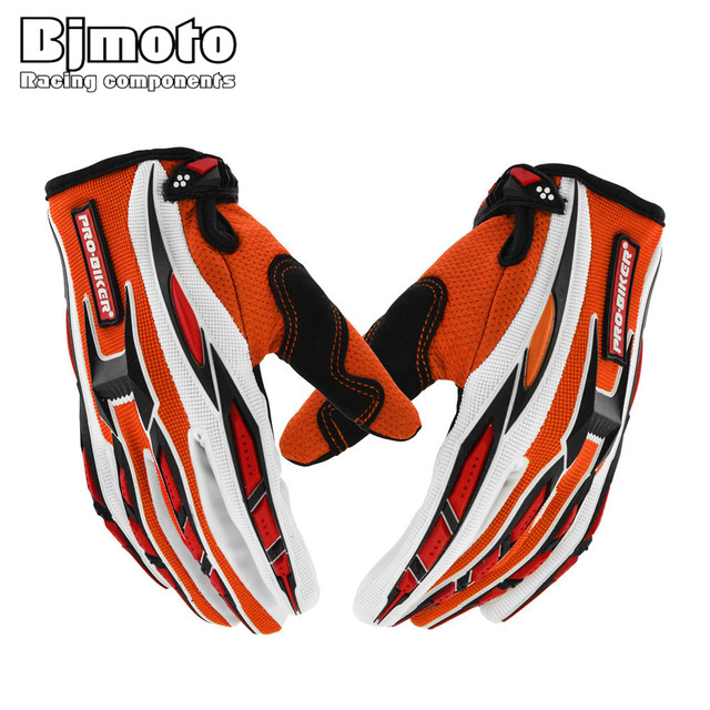 BJMOTO New Summer Winter Full Finger Motorcycle Gloves Gants Moto Luvas Motocross Lycra Motorbike Guantes Moto Racing Gloves