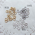 D003 DIY jewelry accessories hoops lap connection ring closed ring gold / silver / white K color 25G / bag