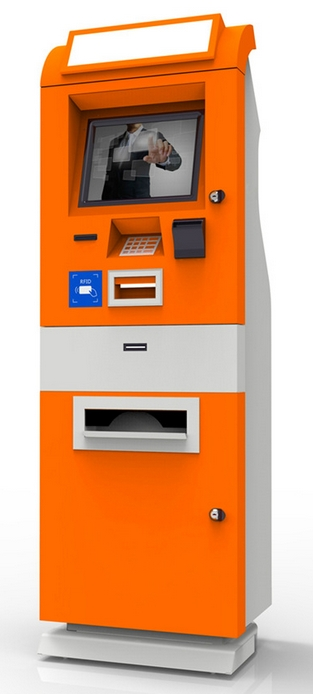 Touch Screen Ticket Self-service PC Terminal Cash Payment Vending Kiosk Bank Coin Terminals