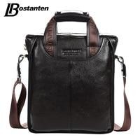 Bostanten Genuine Leather Man Bag Business Crossbody Bags Portable Briefcase Laptop Handbag Casual Purse Sacoche Homme