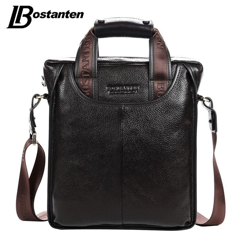 Bostanten 2017 Лидер продаж пояса из натуральной кожи Бизнес Портфели портативный ноутбук сумка повседневное кошелек Homme Marque Crossbody