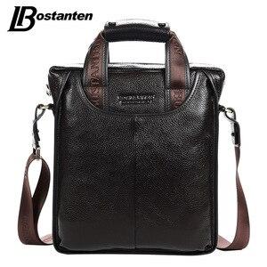 Bostanten 2017 الساخن بيع جلد طبيعي حقيبة أعمال لاب توب محمول حقيبة يد محفظة كاجوال Sacoche Homme Marque كروسبودي