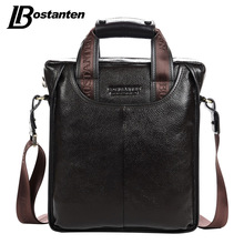 Bostanten Genuine Leather Man Bag Business Crossbody Bags Portable Briefcase Laptop Handbag Casual Purse Sacoche Homme Marque