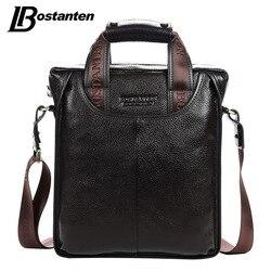 Bostanten 2017 offre spéciale en cuir véritable mallette d'affaires ordinateur portable sac à main sac décontracté Sacoche Homme Marque Crossbody