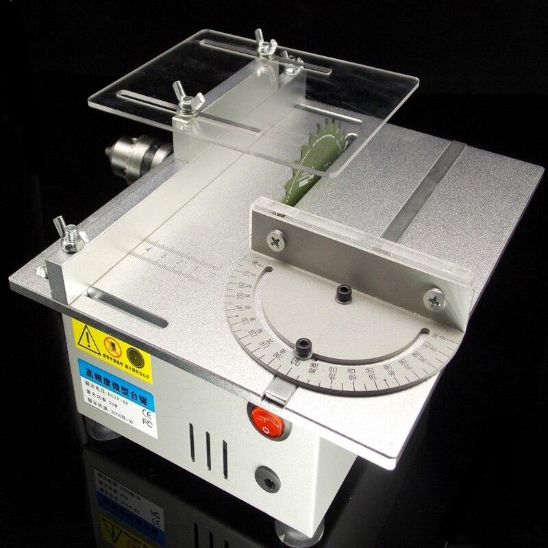 דיוק מיני שולחן מסור DIY נגרות מסור חשמלי מכונה קטן מכונת חיתוך שולחן העבודה נגרות פנל מסור עץ