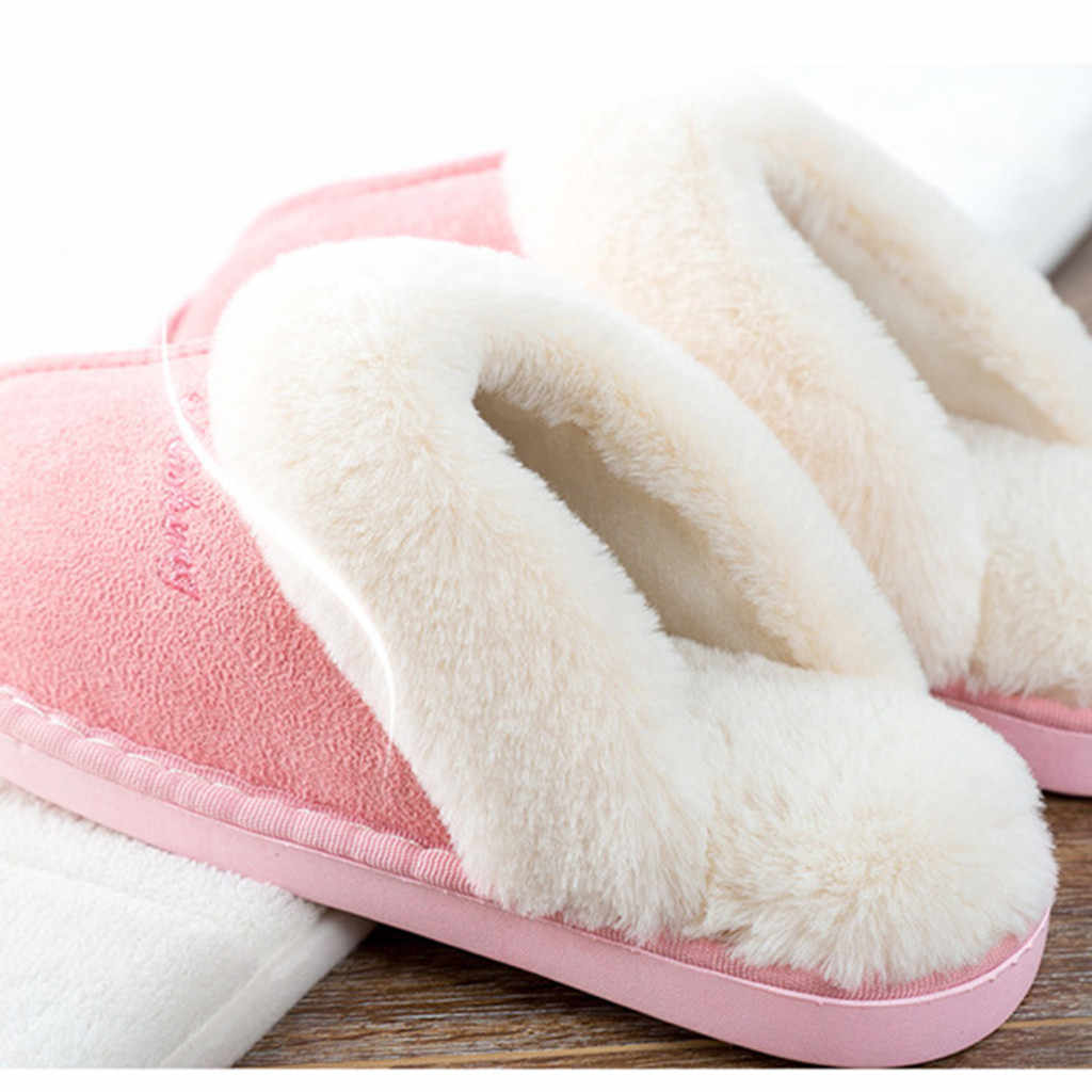 Lovely Ladies Home Floor Soft Women Indoor Slippers Outsole Cotton-Padded Shoes flip flops Woman Winter Women Slippers mujer