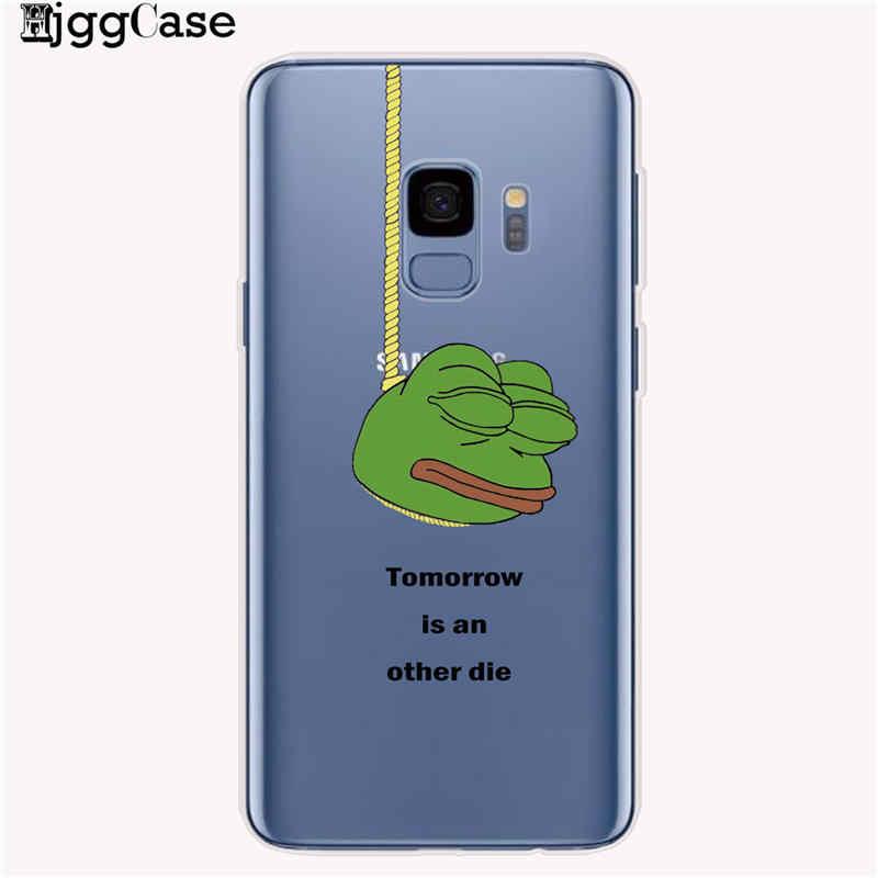 مضحك الضفدع بيبي الوجه البكاء سعيد زوجين الهاتف حقيبة لهاتف سامسونج غالاكسي S8 S9 S10 زائد S10e S6 S7 حافة لينة سيليكون حافظة تي بي يو