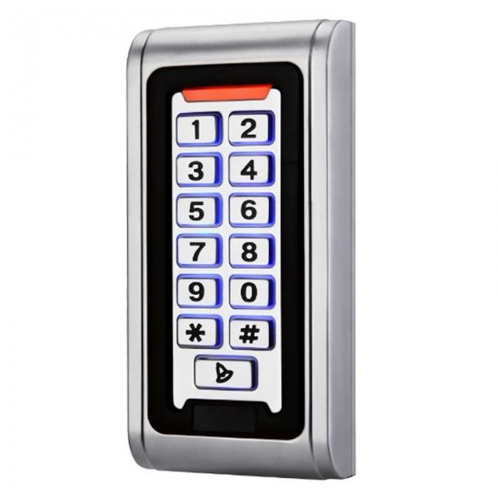 Waterproof Heavy Metal Standalone 125KHZ RFID Reader & Keypad Pin code Door gate lock opener Access Control Metal Keypad Case
